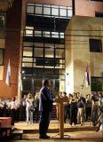Closs frente al nuevo edificio del Tribunal de Faltas de Posadas