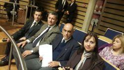 Martín Ayala, Pte del Colegio de Abogados; Rafael Pereyra Pigerl, Fernando Canteli y Andrea Wasylsik