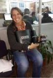 Andrea recibió un obsequio por sus más de 50 actos voluntarios