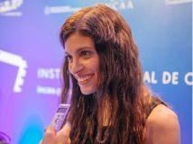 Paula Brasca en dialogo con la prensa