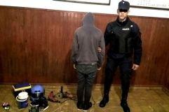 El joven que terminó detenido y los objetos robados