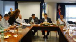 El Presidente de EMSA, Sergio Ferreira exponiendo